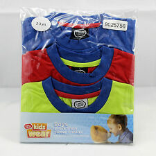 Boys Short Sleeve T-shirt Age 2-3 | Chad Valley | 3-pack **BRAND NEW + FREE P&P*