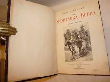 SALGARI, Emilio: LA SCIMITARRA DI BUDDA 1892 Treves 2a ediz. illustr. Colantoni