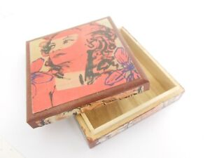 David Bromley Commissioned & CERTIFIED decoupage BOX - ONE OFF 12x11x3cm WOOD