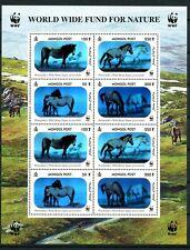 WWF Przewalski's Horses 3-D Hologram mnh minisheet 8 stamps Mongolia #2441