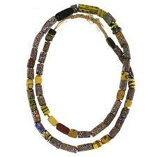Collana Antiche MURRINE Veneziane Millefiori Epoca 1800 Perle di Vetro