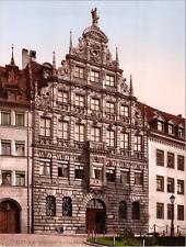Deutschland, Nürnberg. Pellerhaus. vintage print photochromie, vintage photoch