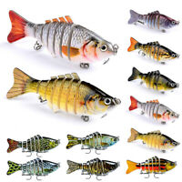 Fishing Lures 7 Segment Fish Bass Minnow Swimbait Tackle with Hook
