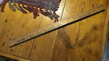 Antique Advertising Expandable Yardstick SOMMER & MACA GLASS MACHINERY Chicago