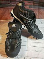 Mens Athletic Baseball Metal Cleats Shoes  Size 11 Starter Black ML