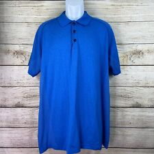 Lululemon Mens Size Xl Blue Polo Shirt Logo Euc activewear running yoga
