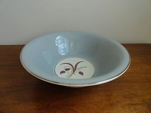 Mid Century Gray Serving Bowl Harker Pottery SLENDER LEAF GRAY Platinum