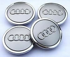 Audi Silver Alloy Wheel Centre Caps 68mm x4 Fits A1 Vehicle