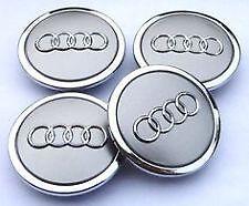 AUDI Aleación De Plata Centro De Rueda Caps x4 se adapta a la mayoría de Audi's