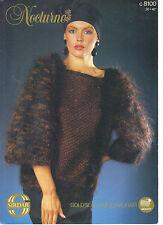 Sirdar Nocturne KNITTING PATTERN sweater c8100