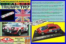 ANEXO DECAL 1/43 TRIUMPH TR7 V8 TONY POND RALLYE PORTUGAL 1980 (01)