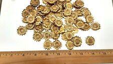 36 piece, vintage sunburst shape brass