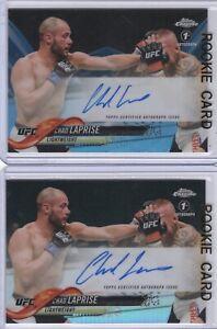 (LOT 2) CHAD LAPRISE Signed 2018 CHROME UFC (/75) BLUE 1st AUTO Rookie RC CANADA