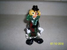 Murano Clown with bubbles Circus Italian Glass 5 inches Tall