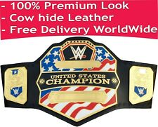 WWE United States Championship Replica Title Belt (2014) Leather Zinc Brass