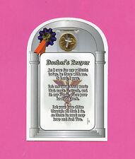 """Doctor's Prayer"" Poem - Verse Card w Cross Penny - SKU# 896"