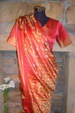 Indian Traditional 100% Silk Hand Woven Bridal Sari Saree + Blouse + Shoes