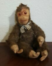 "Vintage Mohair Straw Steiff Monkey Chimpanzee ""Jocko"" 7.5"""