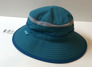 Sunday Afternoons Kids Bucket Hat Youth Large Sun Protection Hat Teal Blue