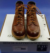 FRYE DAKOTA LACE Boots Mens Brown Leather Size 8.5M