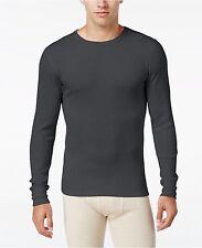 $60 ALFANI Men's THERMAL T SHIRT Long Sleeve Gray CREW NECK TOP UNDERWEAR L