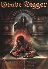 GRAVE DIGGER  The Last Supper Promo Poster - gefaltet / folded - Sammlerstück 80