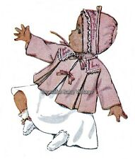 Vintage Simplicity Sewing Pattern 1940s Baby Jacket Coat Bonnet  6 months-1 year