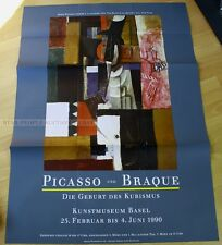 swiss EXHIBITION xxl POSTER 1990 - PICASSO & BRAQUE - THE BIRTH OF CUBISM art