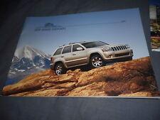 2008 Jeep Grand Cherokee 4X4 Full Line Color Brochure Prospekt
