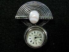 Nurse / Lapel / Brooch WATCH - Sterling - Quartz Boma watch - runs keeps time