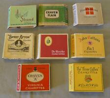 Lot of 8 Original Vintage Different Cardboard Cigarette Wrapper Packages