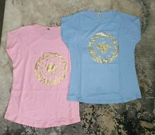 Ladies top Size 4 XL .  two shirts pink and blue