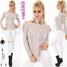 Unbranded Acrylic Boat Neck Solid Jumpers & Cardigans for Women