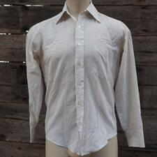 Vintage Sears Disco Button Down Polyester Shirt 1970's Mens Size S 14-1/2
