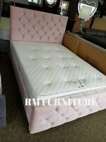 Pink Plush Double Milano Bed Frame only...