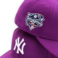 Jae Tips x Hat Club Yankees 2000 World Series 5950 Fitted Hat Purple Size 7 1/4