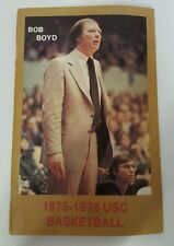 1975-76 USC TROJANS BASKETBALL MEDIA GUIDE YEARBOOK PRESS GUIDE - BOB BOYD