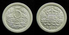 Netherlands - 5 Cent 1908 Prachtig+