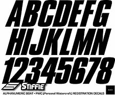 STIFFIE Classic Yellow//Purple//Black 3 Alpha-Numeric Registration Identification Numbers Stickers Decals for Boats /& Personal Watercraft