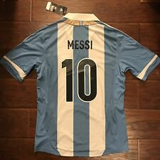 New 2011/13 Argentina Home Jersey #10 Messi Medium Camiseta Trikot Shirt Maillot