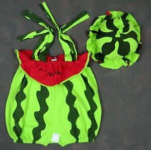 baby boys girls costume 9-24 months WATER MELON romper+hat, play jump Uk seller