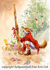 Funny Fox, Shooting Christmas cards pack of 10  by Jonathan Walker C386x