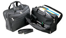 Bellino Lawyer Doctor Laptop Documents Cowhide Leather Briefcase Organizer 6048