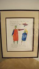 RARE SIGNED ART BRIAN ANDREAS STORY PEOPLE QUIET PRIDE SON WATERCOLOR PRINT