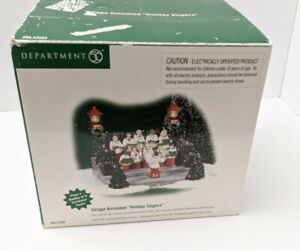 DEPT 56 SNOW VILLAGE ANIMATED HOLIDAY SINGERS Broken Light Post Read Details