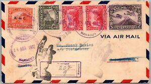 GP GOLDPATH: NICARAGUA COVER 1932 AIR MAIL REGISTERED LETTER _CV770_P10
