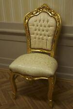 salle à manger chaise antique, doré, beige sur la base