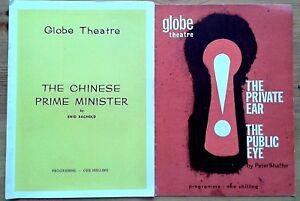 Individual/single Globe Theatre programmes 1960s, West End programme