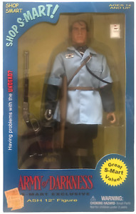 """Sideshow Army of Darkness S-Mart Ash 12""""Figure NEW 2003 Evil Dead Bruce Campbell"""