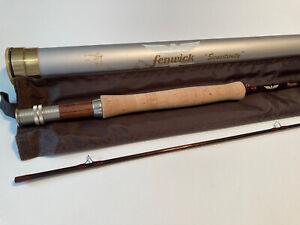 """Vintage Fenwick Royale RYF 865 8'6"""" #5 3 3/8 oz abtaa Fly Rod & Case W/sock A1"""